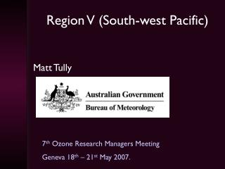 Region V (South-west Pacific)