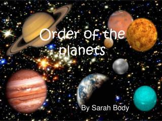 Order of the planets
