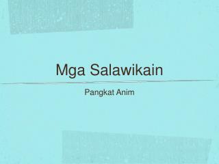 Mga Salawikain