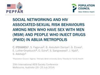 MSM/PWID HIV Situation