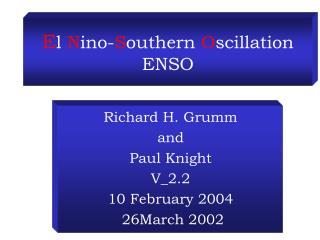 E l  N ino- S outhern  O scillation ENSO