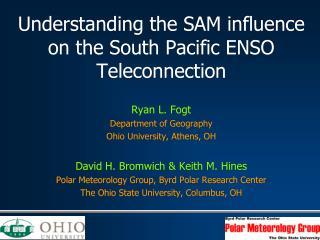 Understanding the SAM influence on the South Pacific ENSO Teleconnection