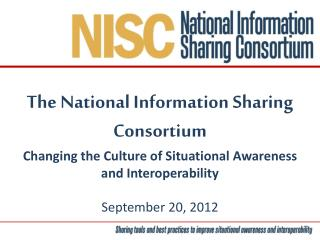 The National Information Sharing Consortium