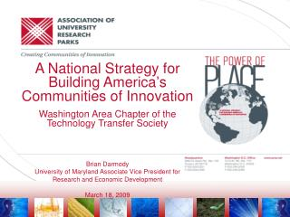 A National Strategy for Building America's Communities of Innovation