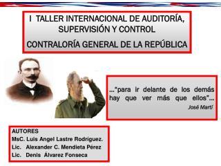 """...""""para ir delante de los demás hay que ver más que ellos""""… José Martí"""