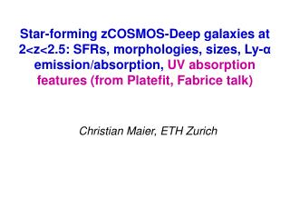 Christian Maier, ETH Zurich