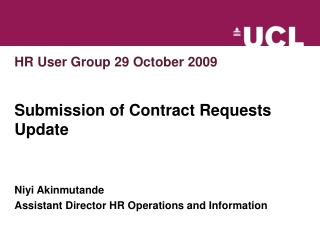 HR User Group 29 October 2009