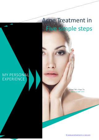 Acne Treatment In Five Simple Steps