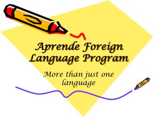 Aprende  Foreign Language Program