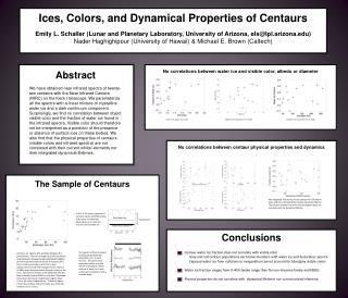 Ices, Colors, and Dynamical Properties of Centaurs