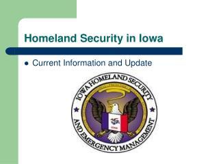 Homeland Security in Iowa