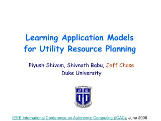 Learning Application Models for Utility Resource Planning