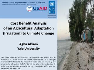 Cost Benefit Analysis  of an Agricultural Adaptation (Irrigation) to Climate Change