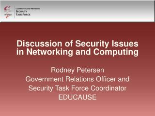 Discussion of Security Issues in Networking and Computing