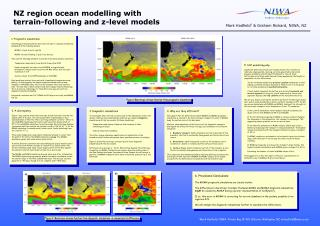 NZ region ocean modelling with terrain-following and z-level models