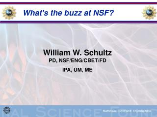 What's the buzz at NSF?