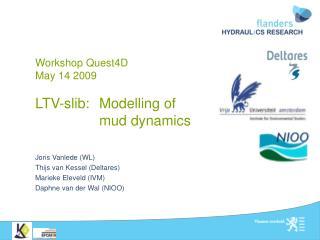 Workshop Quest4D May 14 2009 LTV-slib: Modelling of  mud dynamics
