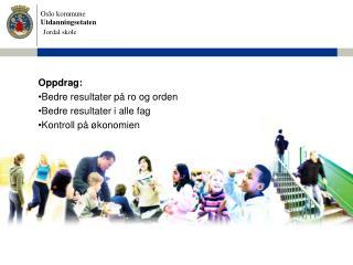Oppdrag: Bedre resultater på ro og orden Bedre resultater i alle fag  Kontroll på økonomien