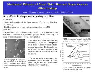 Size effects in shape memory alloy thin films