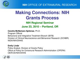 NIH  OFFICE OF EXTRAMURAL RESEARCH