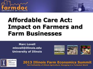 Affordable Care Act: Impact on Farmers and Farm Businesses
