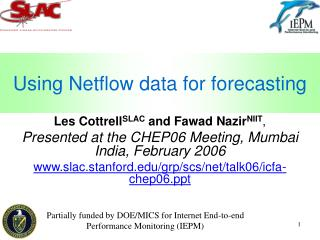 Using Netflow data for forecasting