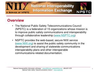 National Interoperability  Information Exchange