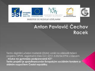 Anton Pavlovič Čechov Racek