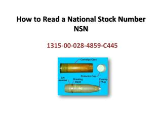 How to Read a National Stock Number NSN