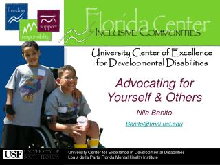 University Center of Excellence  for Developmental Disabilities