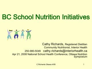 BC School Nutrition Initiatives
