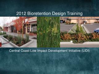 2012 Bioretention Design Training