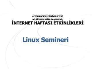 Linux Semineri