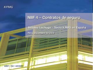 NIIF 4 � Contratos de seguro