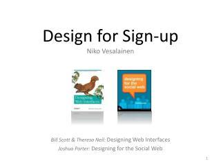 Design for Sign-up Niko Vesalainen