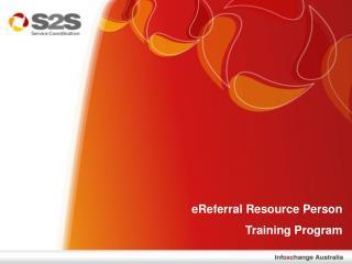 eReferral Resource Person  Training Program