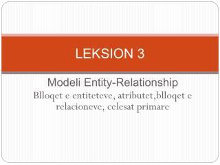 LEKSION 3
