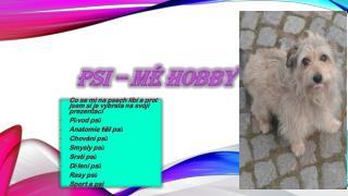 Psi –  Mé hobby