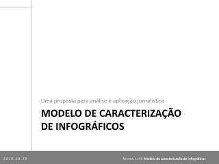 Modelo  de  caracterização de  infográficos
