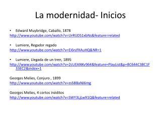 La modernidad- Inicios