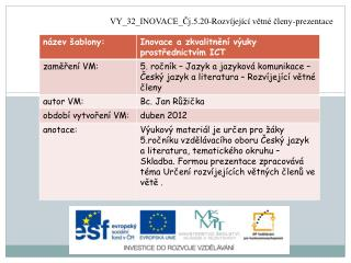 VY_32_INOVACE_Čj.5.20-Rozvíjející  větné členy-prezentace