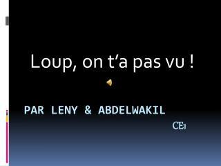 par  leny  &  Abdelwakil Ce1