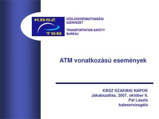 ATM vonatkozású események