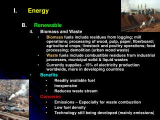 Energy Renewable Biomass and Waste