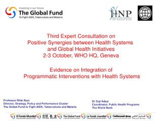 Third Expert Consultation on Positive Synergies between Health Systems