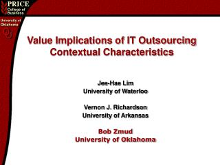 Value Implications of IT Outsourcing Contextual Characteristics