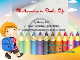 Mathematics Education 2012 A State University Of Surabaya