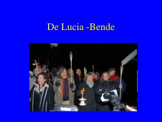 De Lucia -Bende