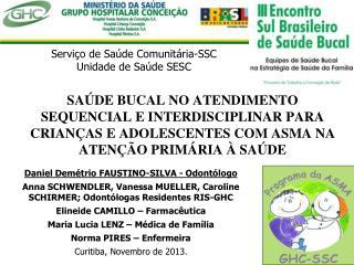 Serviço de Saúde Comunitária-SSC Unidade de Saúde SESC