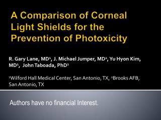 A Comparison of Corneal Light Shields for the Prevention of Photoxicity